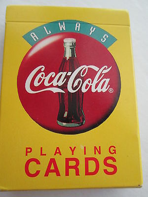 EUC VTG 1994 COCA COLA ALWAYS COKE PLAYING CARDS single deck Open box COMPLETE