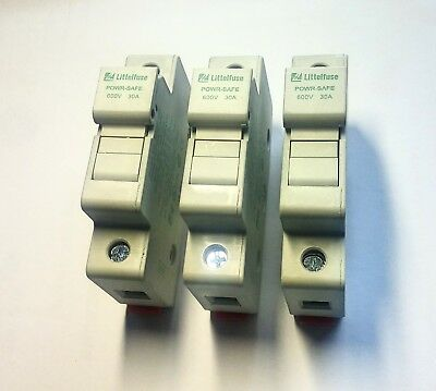 LITTELFUSE FUSE HOLDER LPSC CH, 30AMP, fits CLASS CC fuse, set of 3