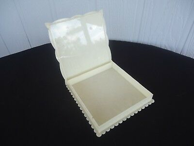 vintage art deco celuloide box jewellery hinged trinket chocolate