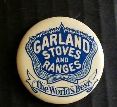 GARLAND STOVES RANGES POCKET MIRROR 1890s CELLULOID ADVERTISING MIRROR