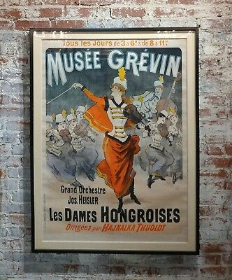 Jules Cheret -Beautiful 19th century French Poster -Musee Grevin - c.1888