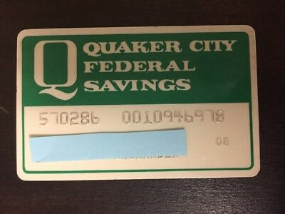 Quaker City Federal Savings and Loan Association ATM Card Bank Advertising 1980s