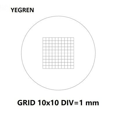 Grids Micrometer Calibration 10x10 DIV=1 for Microscope and Ocular Machines