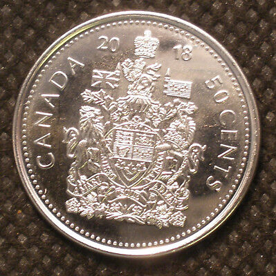 Canadian 50 Cent  2018 from mint roll