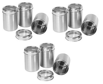 KITCHEN ORGANISER Spice Box Herb Spice Tin Stainless Steel See Through, 17X7 CM