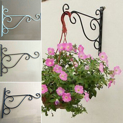 Metal Wall Hanging Rack Hook Bracket Hanger Art Plant Holder Home Decor 25*21cm