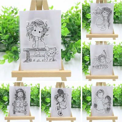 Clever Girls Transparent Clear Rubber DIY Stamp Silicone Scrapbooking Decoration