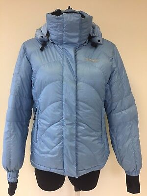 Women's BERGANS OF NORWAY light blue down feather jacket SMALL#0101