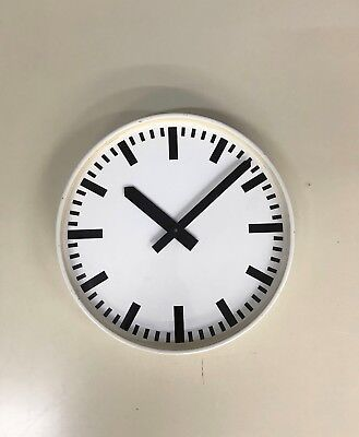 VINTAGE INDUSTRIAL 60s 70s FACTORY SCHOOL RAIL STATION WALL CLOCK