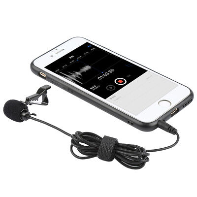 NEW 3.5mm Clip-On Lapel Mic Hands Free Wired Condenser Mini Lavalier Microphone