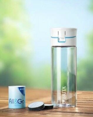 BRITA Fill&Go -NEW BOTTLE + 4 FILTERS !! Only $17.99