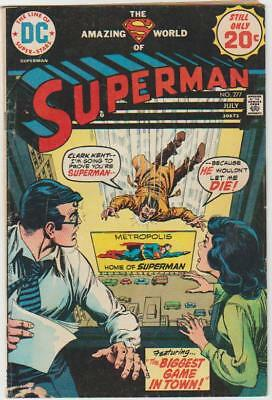 Superman # 277 )) Hot  (( Huge Bronze Sale )) Fine