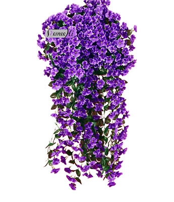 Beauty One Bunches of Artifical Violet Bracketplant Hanging Garland Vine Flower