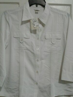 Lot of Two Christopher & Banks Ladies Blouses Size Large 1 NEW 1 PRE OWNED