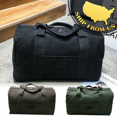 New Men's Military Canvas Duffle Luggage Travel Bags Shoulder Bags Gym Handbags