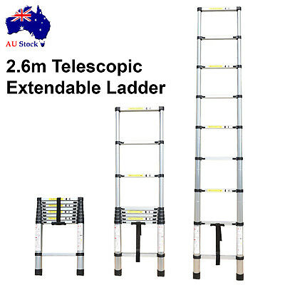 2.6m Foldable Multipurpose Telescopic Aluminium Extension Extendable Step Ladder