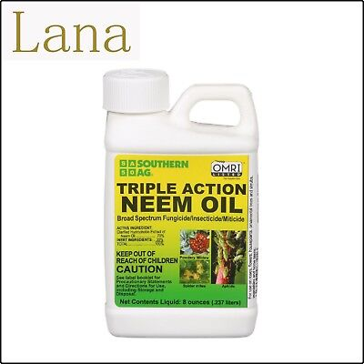 Neem Oil Triple Action Fungicide Insecticide Natural Miticide Organic Dyna 8 oz
