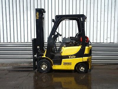 YALE GLP18VX . 3830mm LIFT. USED GAS FORKLIFT TRUCK. (#2141)