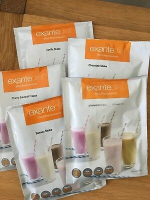 Exante Diet Meal Replacement Shake Hut Group various flavours 74 sachets