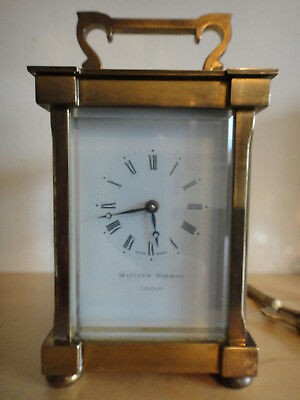 Matthew Norman carriage clock solid brass