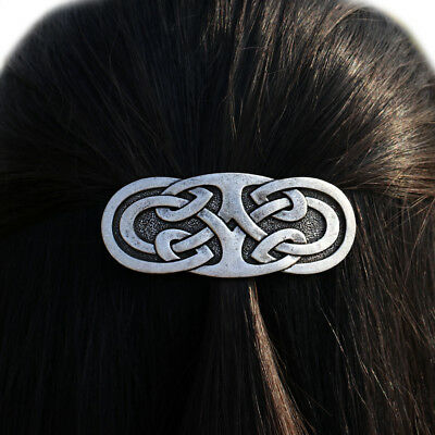 Celtic Irish Knot Filigree Barrette Accessory Hair Clip Pin Jewelry Hairpin