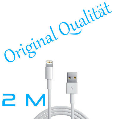2m Lightning Lade kabel USB Daten für Original Apple iPad 5 S iPhone iPod 2m