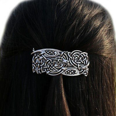 Viking Raven Odin Celtic Bird Filigree Hair Clip Pin Jewelry Hairpin Barrette