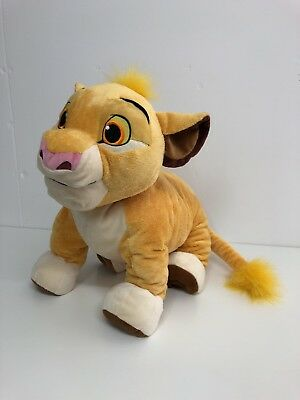 Disney Store Exclusive SIMBA / THE LION KING Plush Approx 34 inch x 18 inch