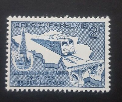 BELGIQUE-Electrification of Railway Brussels-Luxembourg MNH 1956 (D3)