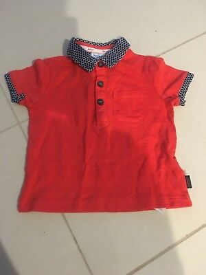 Baby Boy Ted Baker Orange Polo Shirt Size 6-9 Months