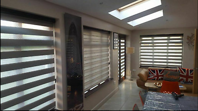 MADE TO MEASURE Day & Night / Zebra  / Vision Blinds - ZAFIRA - UK PRODUCT