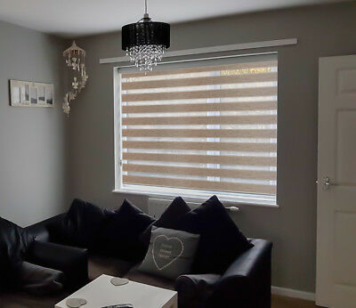 MOTORISED Made to measure Day & Night / Zebra Blinds - ZAFIRA