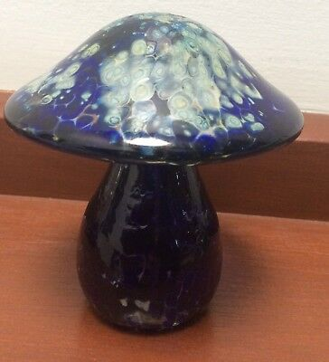 Cobalt Blue Glass Mushroom No Damage