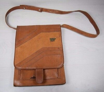 Vintage Collectible Genuine Leather Unisex Shoulder Bag from the 80's Retro