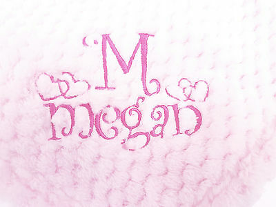 NEW WAFFLE super soft feel personalised embroidered blanket 4 colors