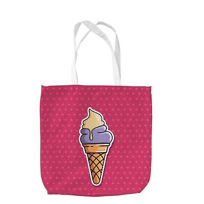 Pop Art Ice Cream Design Printed Tote Bag Shopping Beach School Gift Swimming
