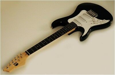 NEW BLACK STRAT 3/4 LEFT HANDED ELECTRIC GUITAR LEFTY. Free Shipping