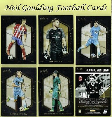 Panini BLACK GOLD 2016-2017 ☆☆☆ PREMIUM FOOTBALL BASE CARDS ☆☆☆  #1 to #162
