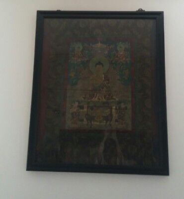 Antique Tibetan Scroll Framed