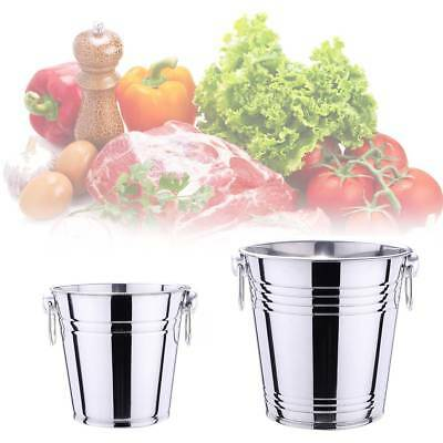 Stainless Steel Ice Bucket Champagne Wine Cooler with Handles 3/5L Bar Pub Party