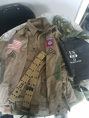 WW2 82nd Airborne  parachute regiment uniform  and other accessories