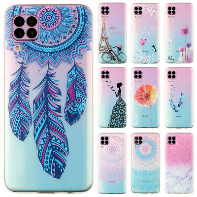 For Huawei P Smart/ P9 P20 Lite Ultra Slim Soft Silicone Painted Back Case Cover