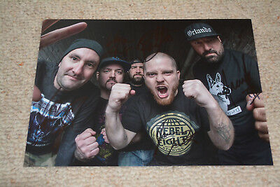 HATEBREED signed Autogramm 20x27 cm In Person komplette Band