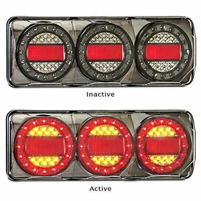 Pair LED Autolamps Maxilamp C3XR 12-24 Volt Stop / Tail / Indicator and Reflecto
