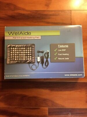 "NEW WelAide Medium Far Infrared Heating Pad 21"" X 30"" - Jade Low EMF WHP001-M"