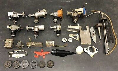 lot 7 Airplane RC Model Gasoline Engine Motor Tether Remote Control Gas Tank f20