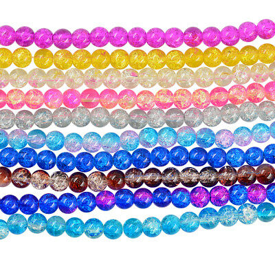 106-110x CRACKLE GLASS BEADS 8mm bracelet~wine charms~necklace~earring~craft