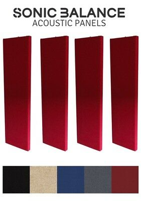 4X Acoustic Panels (RED) / Slim Broadband Absorbers for Pro/Home Studio