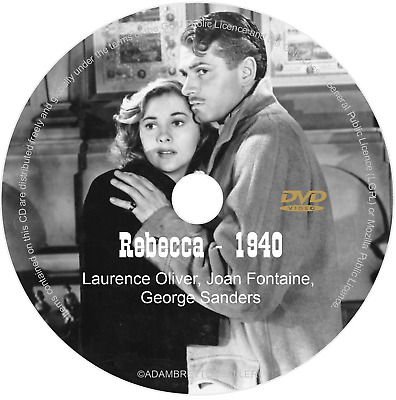 Rebecca DVD (1940) Laurence Oliver, Joan Fontaine, George Sanders