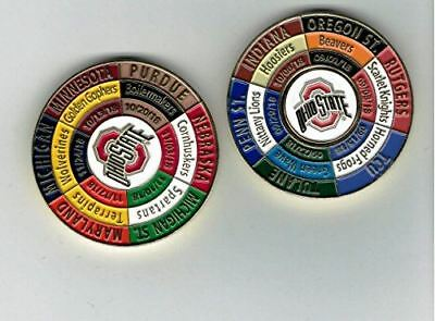 Ohio State Buckeyes 2018 Game Day Schedule Coin w/Ball Marker